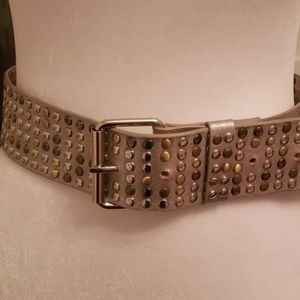 Accessories - Silver belt with grommets